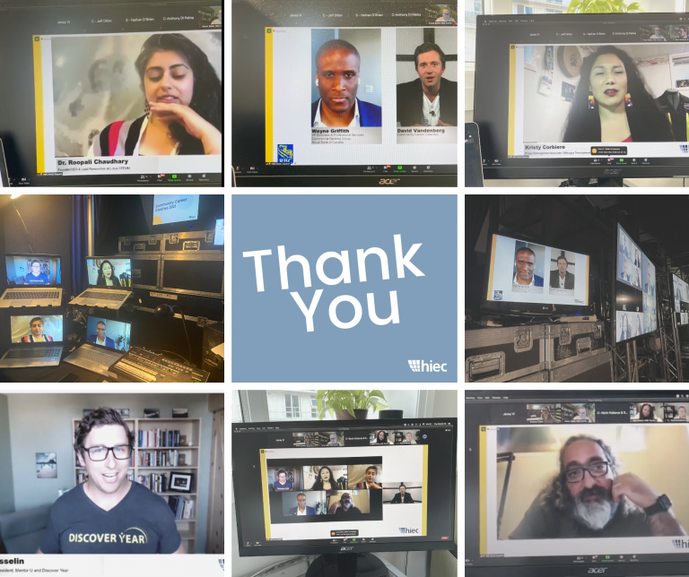 Thank You Image Featuring Screenshots of Speakers from the Community Career Coaches Event